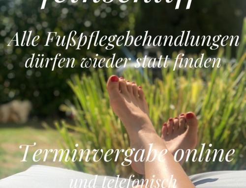 Fußpflege darf wieder öffnen