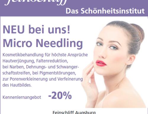 -20% KENNENLERNANGEBOT MICRONEEDLING -20%